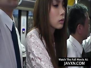 Hot Japanese Teen On The Bus