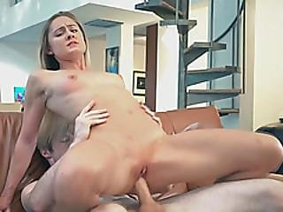 Bikini Babe Is Creeped Upon And Fucked Hard On Couch