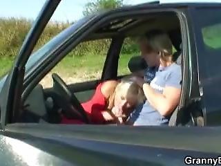 Fucking 80 Years Old Granny Roadside
