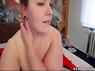 Busty Hot Girl Orgasming On Webcam Show