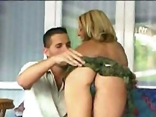 Blonde Hottie Takes On Enormous Dick