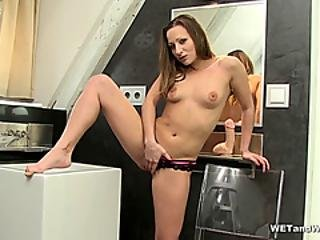Blonde Babe Pees Her Panties
