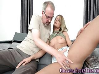 Teen Sucks Grandpas Dick