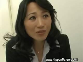Mautre Milf Teacher Asian Gives Head