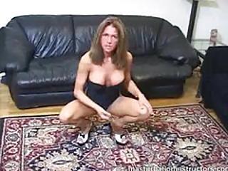 Masturbation Instructor Teases By Exercising Seductively