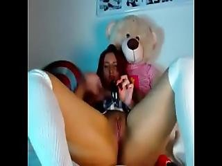 Busty Big Tits Schoolgirl With Captain America Shield Fingering Hard