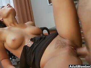Nataly Gets Splooged Right On Her Slut Face