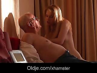 Blonde, Blowjob, Fucking, Grandpa, Mature, Teen, Young