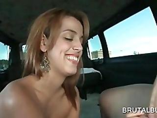 Sensual Redhead Giving Hot Bj In The Bus
