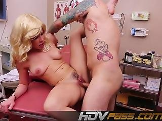 Blonde Katie With Pink Lipstick Fucked At The Surgery