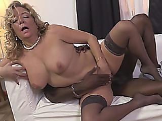 Lewd Blonde Cougar Karen Summer Cums While Having Black Dick Inside Pussy