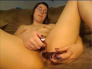 18yo Hairy Pussy Dildo And Vibrator Cum