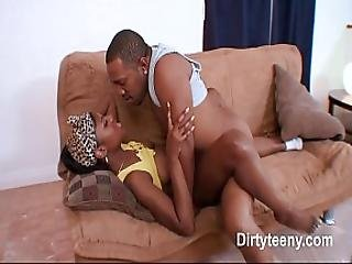 Sweet Ebony Big Pussy In Hardcore Fucking To Receive Big Cum On Ass Black Cock