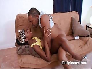 Sweet Ebony Big Pussy In Hardcore Fucking To Receive Big Cum On Ass Black Cock