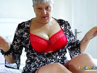Granny, σκληρό, ώριμη, μαμά, μεγάλος, αποπλανητικός, σόλο, Teasing