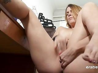 Sweet Sexy Irina Masturbates To Ersties On Her Laptop!
