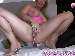 German Mature Mom - Homemade Threesome With Blonde Wife And Black Guy