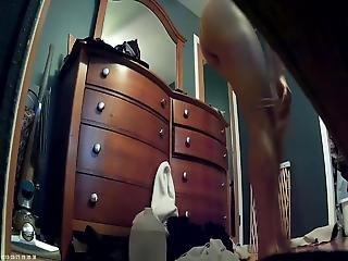 Latina Girl In Bedroom-dressing Room Spy Cam
