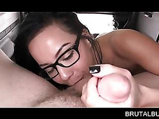 Chesty Teen In Glasses Giving Hell Of A Bj