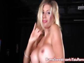 Euro Slut Puma Swede Fucks Big Dildo