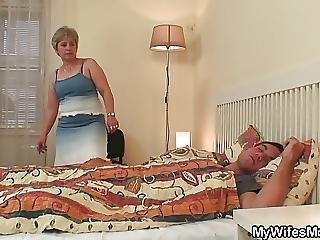 Wifes Old Mother Jumps On My Cock