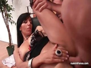French Mother In Lingerie Rough Banged And Facialized