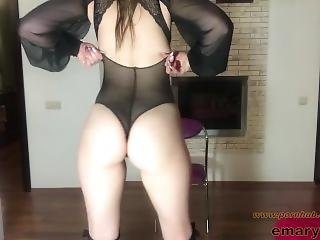 Natural Beauty Big Boobs Amateur In Lace Lingerie Homemade Masturbation