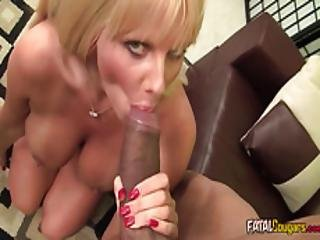 Busty Cougar Banged By A Bbc
