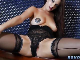 babe, brunette, cumshot, hardcore, hæler, pornostjerne, hore, strømpe