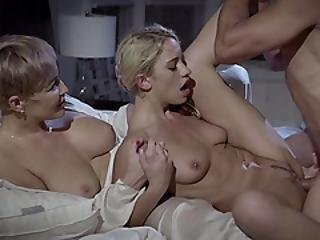 Petite Blonde Teen Lured Into Sex By Busty Milf Stepmom