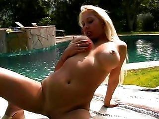 ασιατικό, μεγάλο βυζί, ξανθιά, fondling, αυνανισμός, έξω από το σπίτι, πισίνα, ξυρισμένο, σόλο, κολπικό