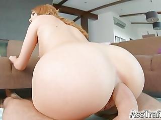 Asstraffic Sexy Girl Swallows Cum After Anal Fucking