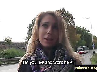 Pickedup Eurobabe Fucked On Backseat Of Car
