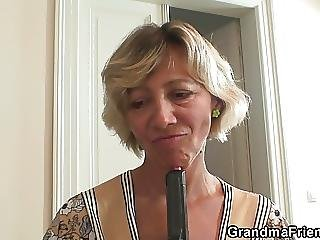 Threesome With Old Granny And Boys Teen