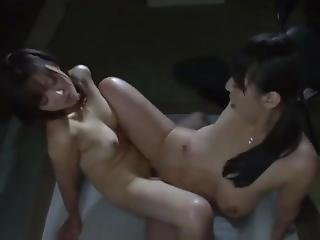 Japanese Lesbians Licking And Tribbing Wet Pussies