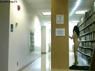 J@zzkitten Asian Girl Public Nudity & Masturbation In Library Webcam!!!