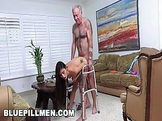 Blue Pill Men - Grandpa Popping Pills And Fucking Tight Latina Teen Pussy