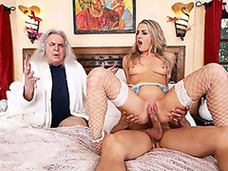 Blonde Dominatrix Makes Husband Watch Her Getting Fucked
