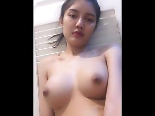 Beautiful Girl Female Model In Thailand Shows Off Her Milk Through