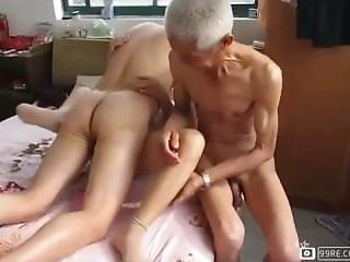 Old Man Enjoy With Women