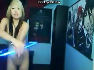 Asian Teen Raver Hoola Hoop Tease