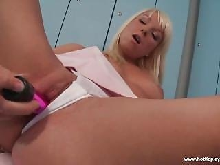 Hot Solo Fun In The Locker Room