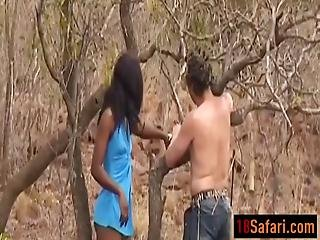 African Teen Tortured And Blows Schlong Outdoors