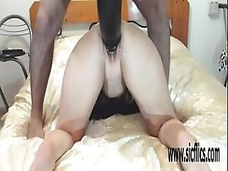 Gigantic Dildo Fuck And Fisting Sarah