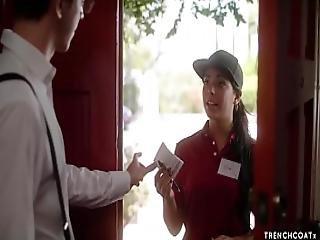 Pizza Delivery Girl Gina Valentina Fucks Her Customer