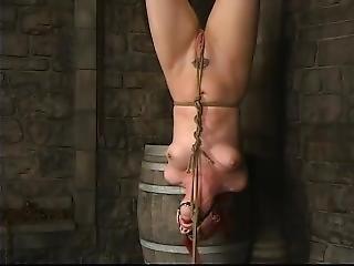 bondage, fétiche, hardcore, attachée comme une truie, star du porno, attachée, jouets
