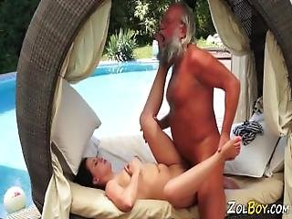 Kinky Teen Rides Old Man