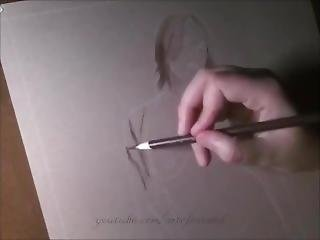 Sepia Self-nude Portrait - Preview
