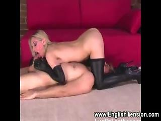 Domina Sucks A Cock While Queening