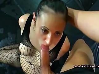 Brunette Gives Deethroat Blowjobs